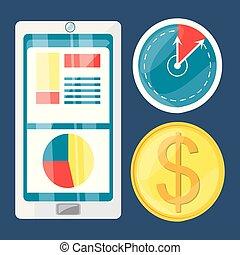 colorful set icon digital marketing