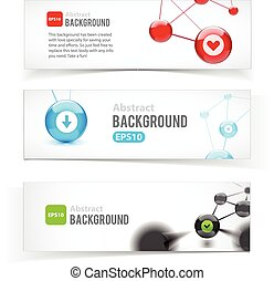 Colorful set of banners. Abstract design