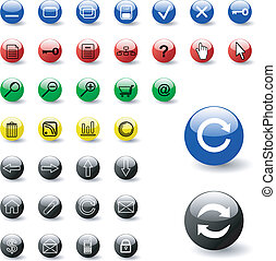Colorful set of buttons
