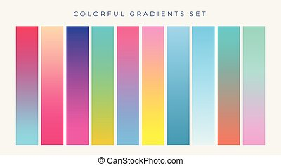 colorful set of vibrant gradients