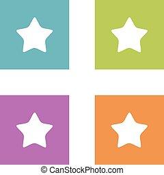 Colorful Set Star App Icon Logo Template Illustration Design. Vector EPS 10.
