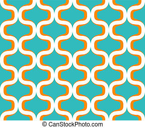 Colorful seventies seamless pattern - Vector of a colorful...