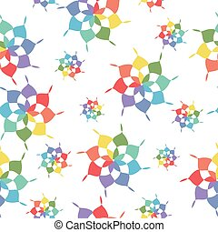 Colorful shapes seamless pattern