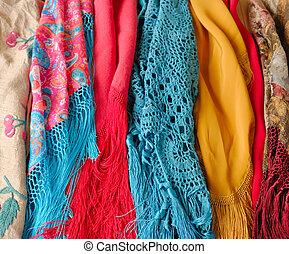 Colorful shawls
