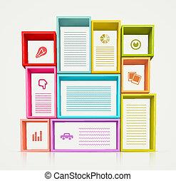 Colorful Shelves - Colorful shelves for design, eps 10