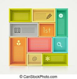Colorful Shelves for Design - Colorful shelves for design,...