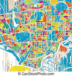 Colorful Shenzen map