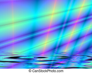 Fractal rendition of a multi colored shine back ground