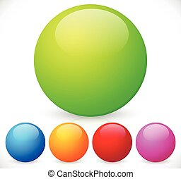 Colorful, shiny spheres