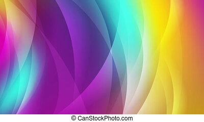 Colorful shiny waves abstract video animation