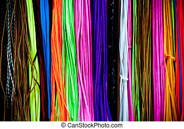 colorful shoelace