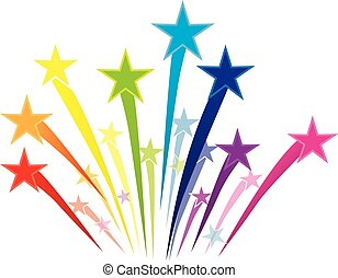 Colorful Shooting Stars Logo - Shooting Stars