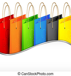 Colorful shopping bags.