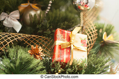 Christmas tree with gift box