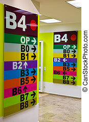 signs for orientation in a clinic - colorful signs for...