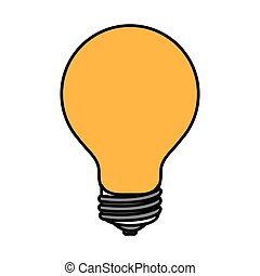 colorful silhouette image light bulb on icon