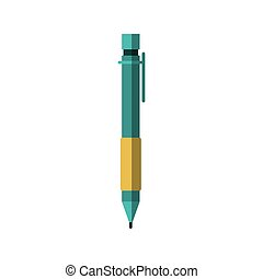 colorful silhouette of pen icon without contour and shading