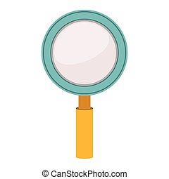 colorful silhouette with magnifying glass