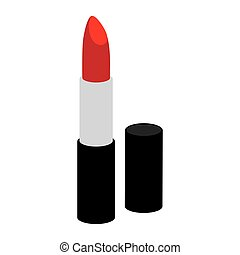 colorful silhouette with opened lipstick vector illustration