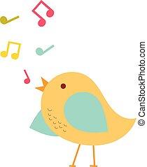 Colorful singing bird