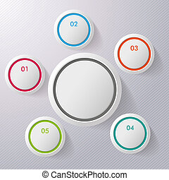 Colorful Six Infographic Circles - Colorful six infographic...