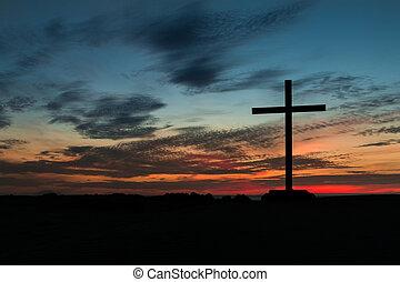 Colorful Sky Cross