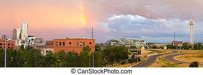 Colorful Sky Over Denver Colorado