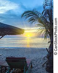 Sunrise Tropical landscape sea