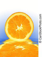 Colorful Slice of Orange on a Fresh Background - Orange ...