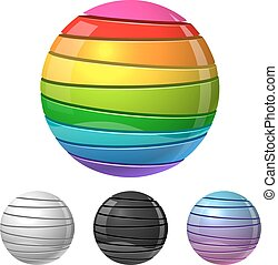 Colorful sliced sphere sign vector template