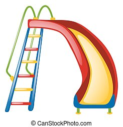 Colorful slide on white background