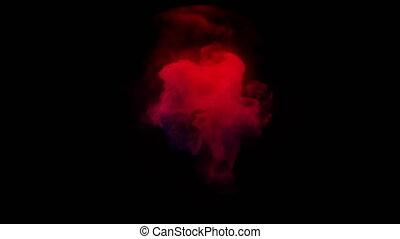 Colorful smoke envelops a sphere. - Colorful smoke envelops...