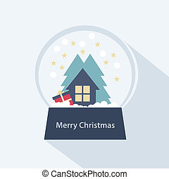Colorful Snow Globe Christmas icon