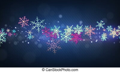 colorful snowflakes seamless loop