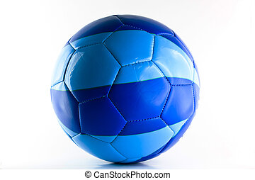 Colorful soccer ball isolated on white background.