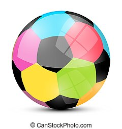 Colorful Soccer Football Ball Isolated on White Background Vector