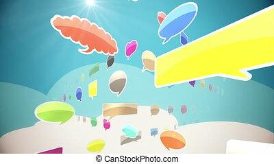 Colorful Social Network Loop