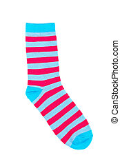 Colorful sock - A colorful sock, isolated on white ...