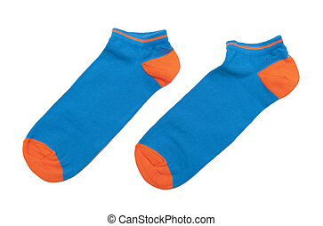 Colorful socks isolated on white