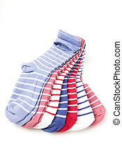 Colorful Socks - Pile of colorful socks on white background