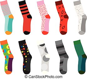 Colorful socks. vector illustration