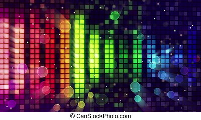 colorful sound level equalizer loop