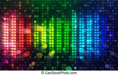 sound level meter equalizer - colorful sound level meter...