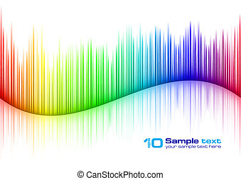 Sound waveform - Colorful Sound waveform (editable vector)...