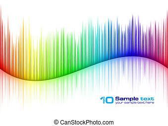 Sound waveform - Colorful Sound waveform (editable vector)...