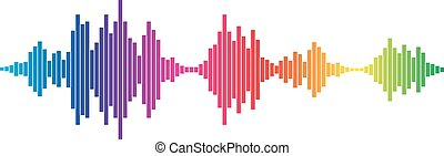 Colorful Sound waves - Colorful sound waves for party...