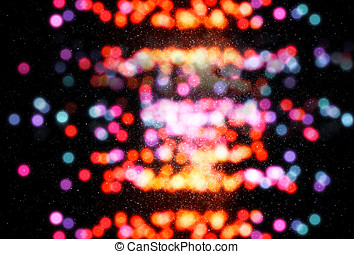 Colorful space stars bokeh background hd