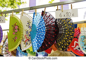 Colorful Spanish Fans