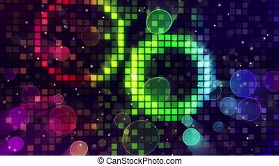 colorful sparkling disco wall loop