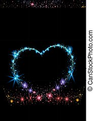 Colorful Sparkling Heart